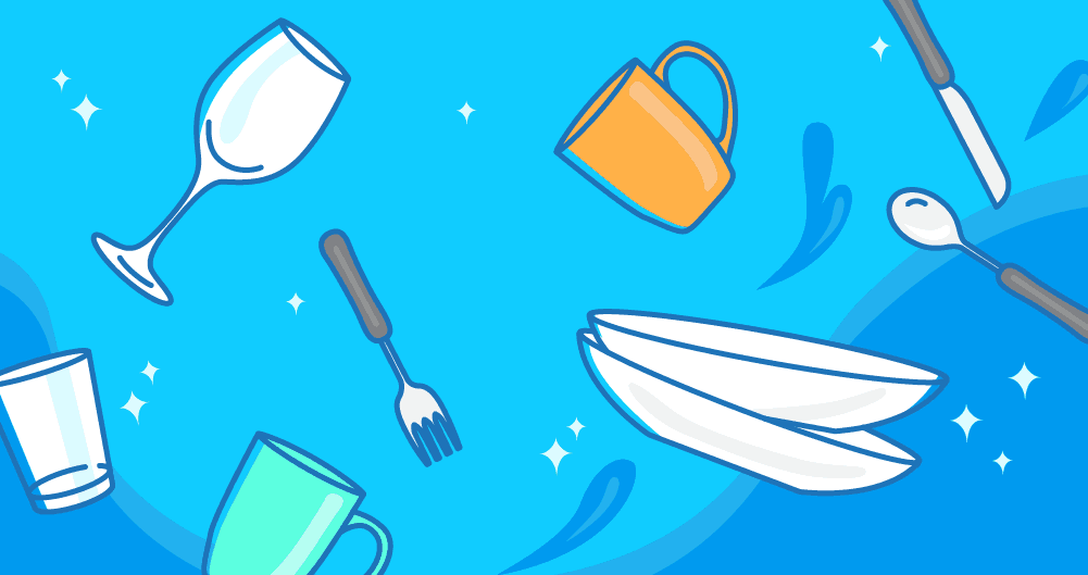 Nuage de vaisselle propre