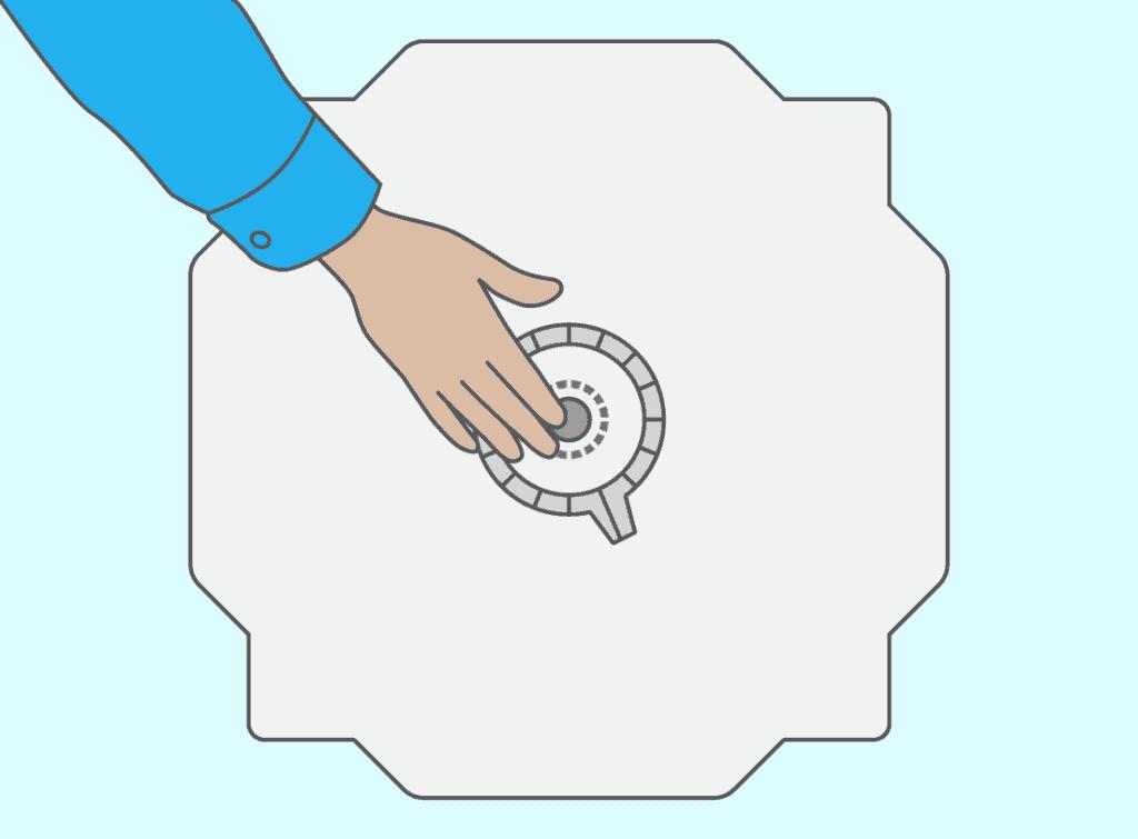Deuxième étape : remplacez le palier, côté opposé à la poulie