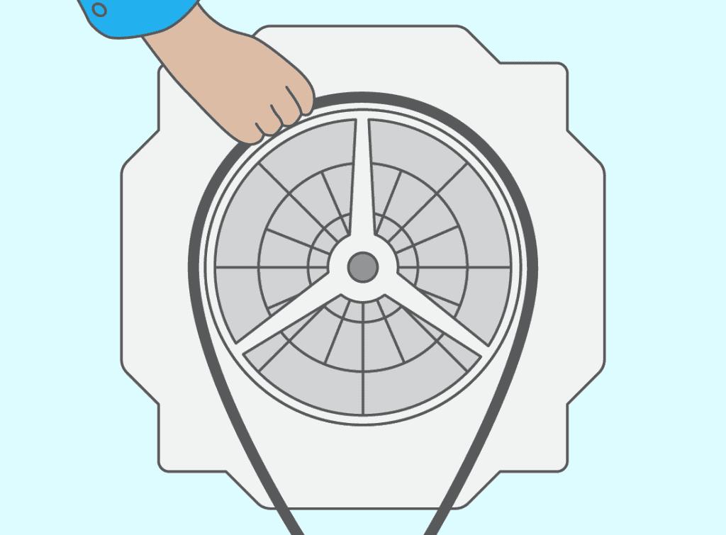 Troisième étape : remplacez le palier, côté poulie
