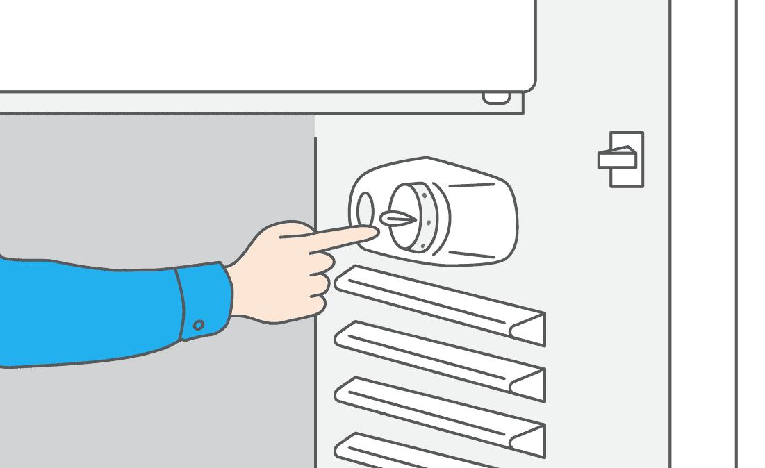 Localisez le boîtier du thermostat.