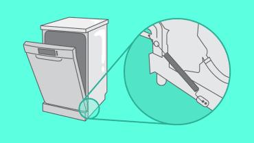 Comment réparer le ressort et le cable de porte de mon lave vaisselle ?
