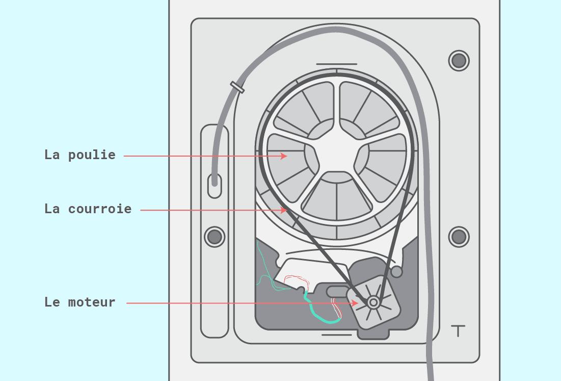 Qu'est ce que la courroie d'une machine à laver ?