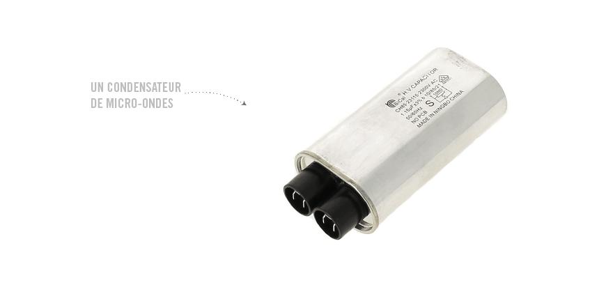 Un condensateur de micro-ondes