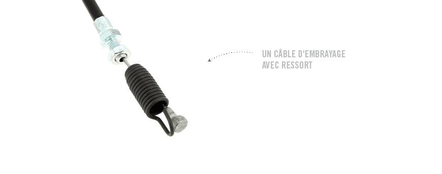 """Câble ayant une extrémité en métal avec un crochet en forme de """"S"""" et une extrémité avec un ressort"""