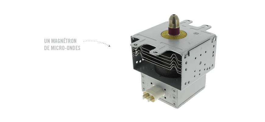 Un magnétron de micro-ondes