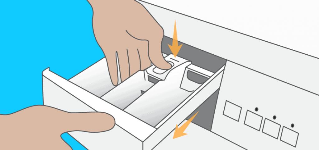 Démonter la boîte à produits pour un lave linge à chargement frontal (hublot)
