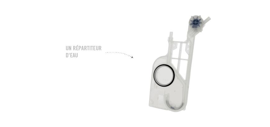 Déboucher ou remplacer le répartiteur d'eau