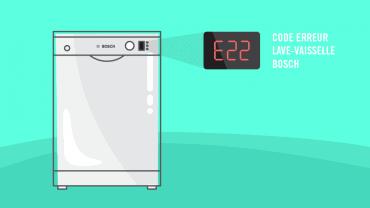 Comment résoudre le code erreur E22 sur mon lave-vaisselle Bosch