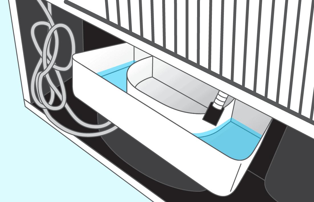 Où va l'eau du dégivrage automatique