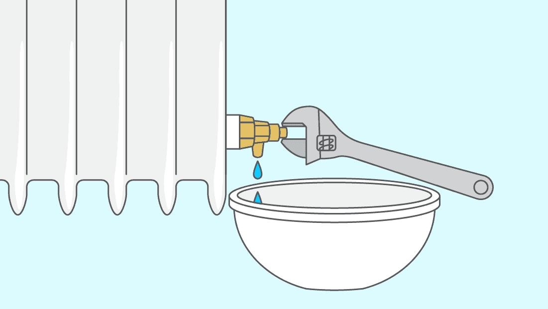 Comment faire la vidange d'un radiateur