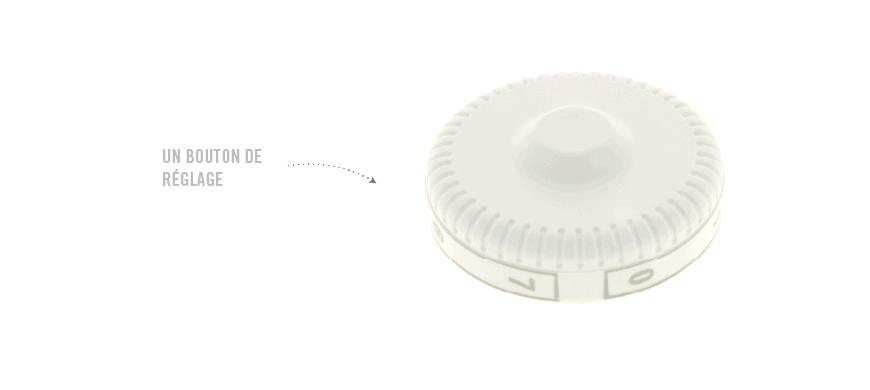 bouton de réglage thermostat