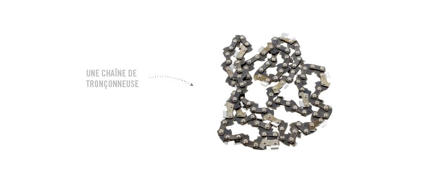 chaîne de tronçonneuse